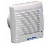 "Image for Vent Axia VA100 Range VA100XP 4"" Bathroom/Toilet Axial Slim extract Fan with Shutter and Pullcord 251310"