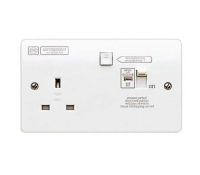 Image for MK Logic Plus K6300WHI 13A 1 Gang RCD Protected Switched Socket Active White