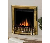 Image for Dimplex Optiflame Fire Range EBY15 1.2 kW Traditional Inset Fire Exbury Brass real coals c/w remote control