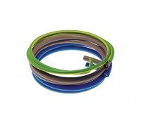 Image of 6181Y Flexible Meter Tail 2M Pack 2x 25mm Blue Brown 16mm 6491X Earth