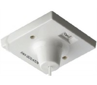 BG Electrical Nexus Ceiling Accessory 804 10 Amp Triple Pole Fan Isolator Ceiling Switch White
