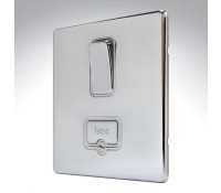 Image for MK Aspect K24941POCW 13A Double Pole Switch Connection Unit Polished Chrome White Insert