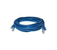 Image of Cat5e RJ45 Patch Lead UTP 2m Blue with Boots