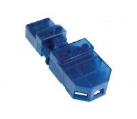 Image of Click Flow CT101C 20A Three Pin Plug Connector Junction Box Blue Each