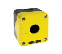 Image of Europa Control Station Enclosure Yellow Single 22mm Accessory Hole