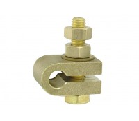 Image of Earth Rod A Clamp 3/8 Inch Brass