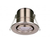Image of Luceco 5W LED Downlight Fire Rated Tilt 4000K Brushed Steel