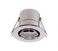 Image of Luceco 5W LED Downlight Fire Rated Tilt 4000K Polished Chrome