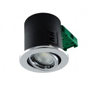 Image of JCC Fire Rated GU10 Downlight Tilt Polished Chrome No Lamp IP20