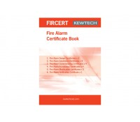 Image of Kewtech Certificate for a Fire Alarm A4 Pad