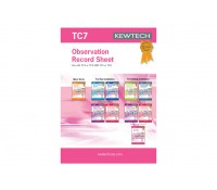 Image of Kewtech Test Certificate Observation Record TC7 Book of 40