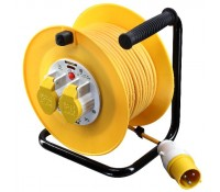 BG Electrical Nexus Work Power LVCT5016/2-MP Site Equipment 110 Volt Cable Reel 50M 16 Amp Blue