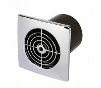Manrose 100mm or 4 Inch Low Profile Fan Square Timer Chrome