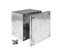 Image of Metal Adaptable Box with Knockouts 100x100x75 Galvanised