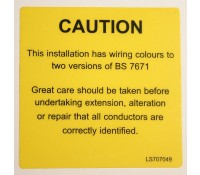"Industrial Signs Label ""Mixed Core Colours"" Self Adhesive Roll of 100"