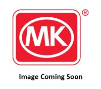 Image of MK Edge K14357BSSB 13A 1 Gang Double Pole Switched Socket Dual Earth Brushed Stainless Steel Black Insert