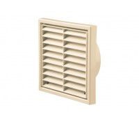 Image of Outside Wall Grille Square Cotswold Stone Fixed Louvre 4 Inch