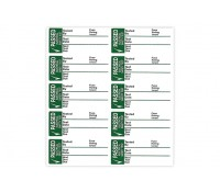 Image of PAT Pass Test Labels Small 35 x 15mm Vinyl Self Adhesive Pack of 50
