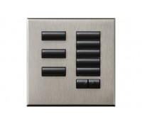Image of Lutron Grafik QS 8 Button Keypad Wallstation Raise/Lower Satin Nickel