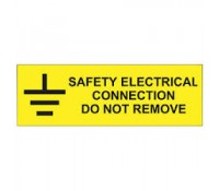 "Industrial Signs Label ""Safety Electrical Connection"" Self Adhesive Roll of 100"
