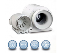 Envirovent Silent MV 160/100 SILMV160/100T Unltra Quiet 100mm In-Line Fan with Adjustable Timer