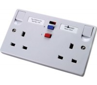 Timeguard Tripfast TFA05W Double 13Amp Socket Outlet with RCD trip White