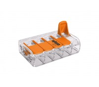 Image of Wago 221-415 32A Compact 5-Way Lever Terminal Block 4mm 25 Pack