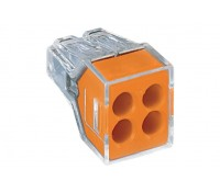 Image of Wago 773-104 32A 4-Way Push Wire Terminal Block 2.5mm 100 Pack