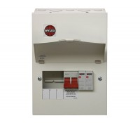 Image of Wylex NM Metal Consumer Unit with Main Switch and Type 2 SPD 3 Ways