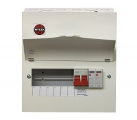 Image of Wylex NM Metal Consumer Unit with Main Switch and Type 2 SPD 6 Ways