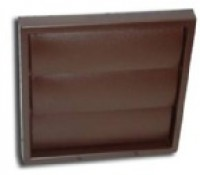 "Manrose 100mm or 4"" Gravity Shutter Wall Grille for Extractor Fan Brown"