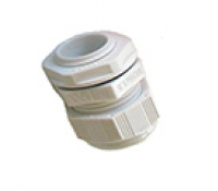SWA Cable Dome Gland 20mm IP68 Polyamide with Locknut White Small Aperture