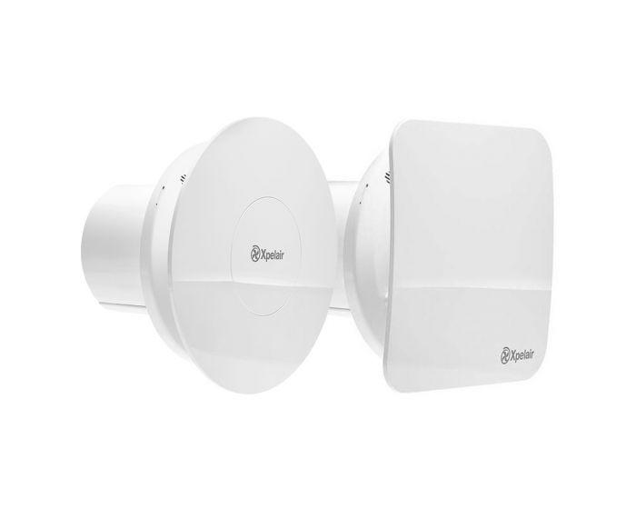 Xpelair Simply Silent Contour Bathroom Fan Humidistat & Timer C4HTSR